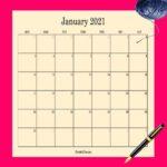 February 2021 Printable Calendar PDF Templates