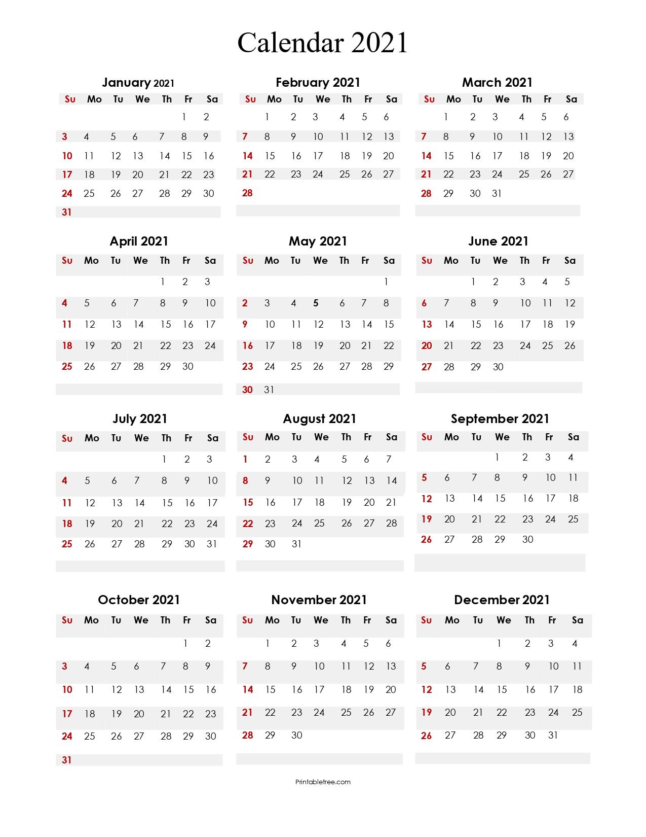 Printable 2021-Blank-Calendar-Portrait Year-Color-4