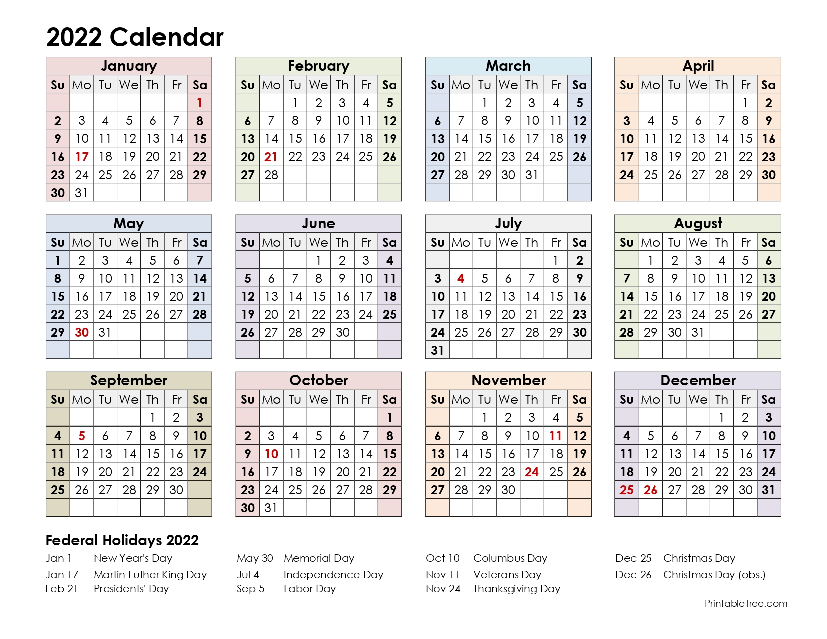2022 Calendar One-Page 6